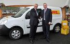Renault Kangoo Z.E. şi ZOE vor intra în flota DHL Express din Franţa în 2015