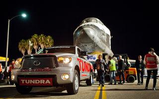 Toyota Tundra a remorcat naveta Endeavour pe ultimul ei drum
