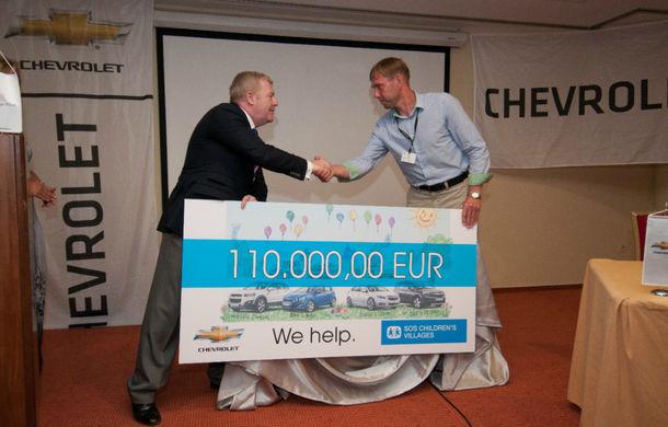 Chevrolet donează 250.000 euro organizaţiei SOS Satele Copiilor - Poza 1