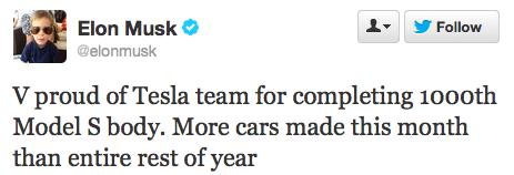 Tesla aniversează producţia a 1.000 unităţi Model S - Poza 2