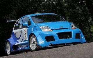 Unicul Chevrolet Matiz cu motor V8 de 550 CP se vinde cu 40.000 de euro