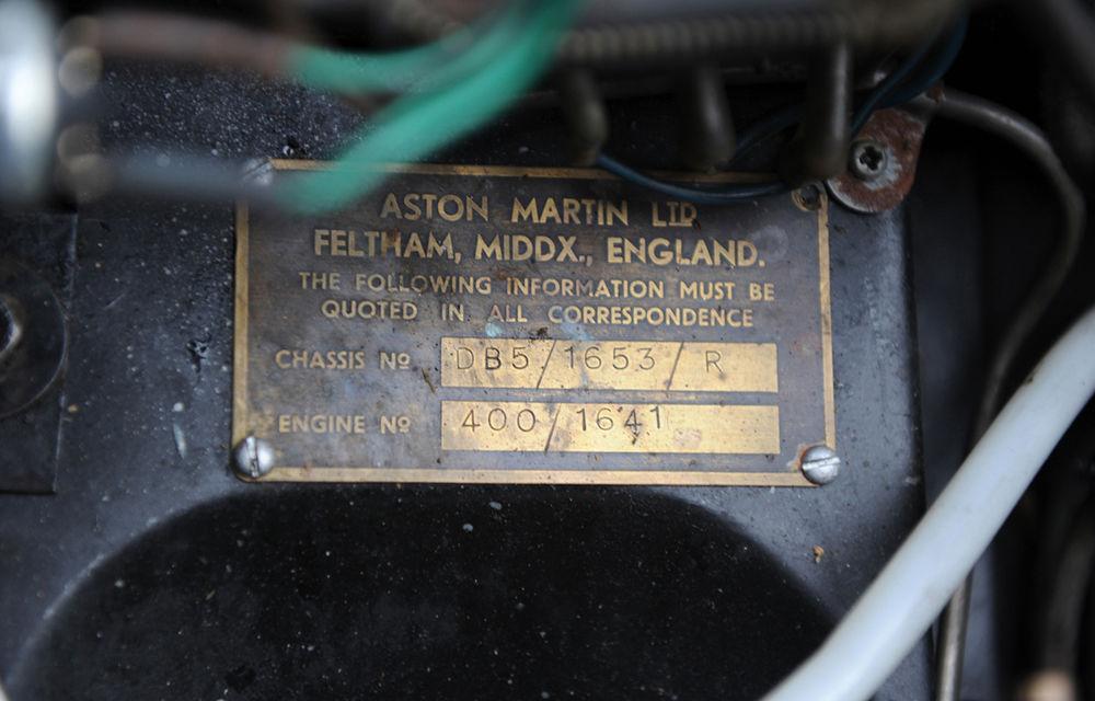 Aston Martin DB5 deținut de Paul McCartney vândut la licitație pentru 307.000 lire sterline - Poza 7