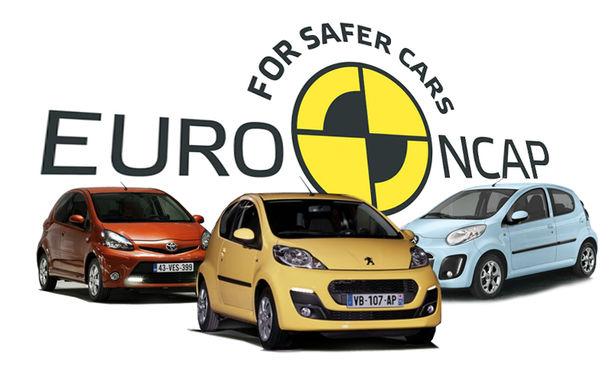 """EuroNCAP: 3 stele pentru """"tripleţii"""" Aygo, C1 şi 107 - Poza 1"""