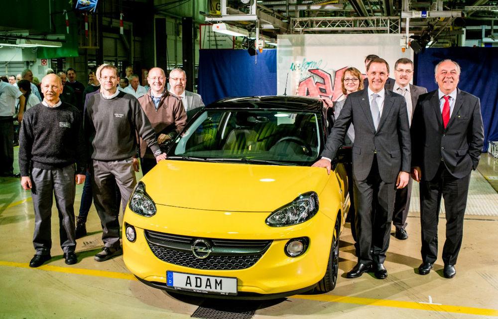 Opel Adam a intrat oficial în producţia de serie - Poza 1