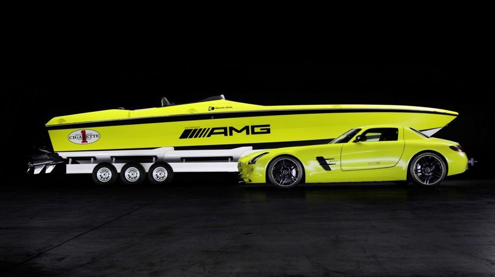 Mercedes-Benz SLS AMG Electric Drive a inspirat cea mai rapidă barcă electrică din lume - Poza 3
