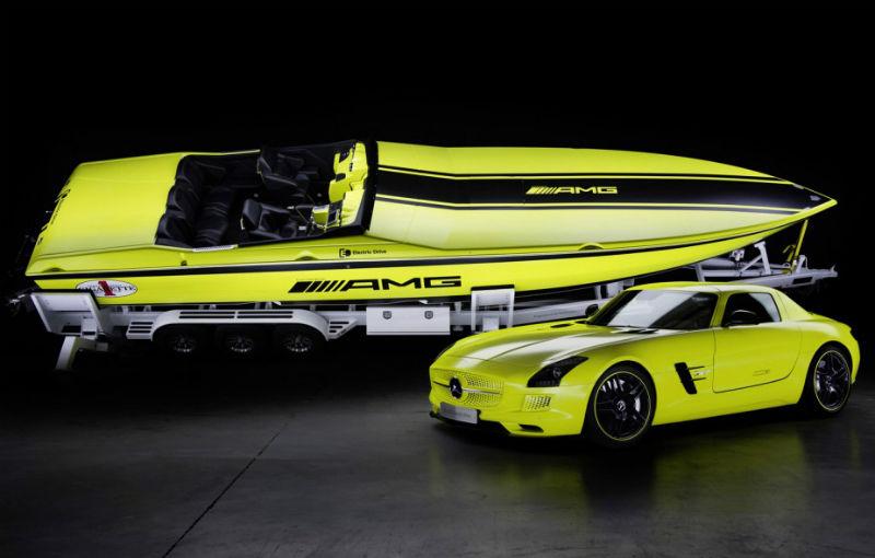 Mercedes-Benz SLS AMG Electric Drive a inspirat cea mai rapidă barcă electrică din lume - Poza 1