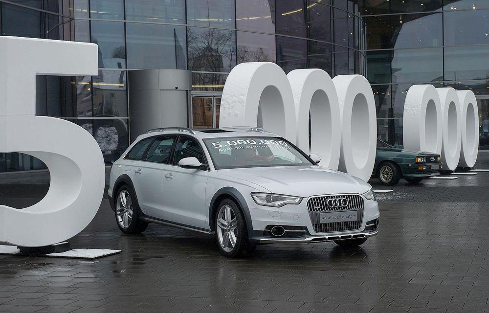 Aniversare la Audi: Nemţii au produs cinci milioane de unităţi echipate cu quattro - Poza 3