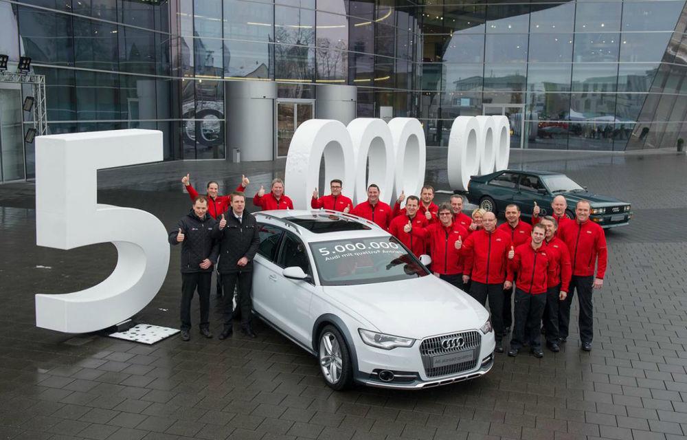 Aniversare la Audi: Nemţii au produs cinci milioane de unităţi echipate cu quattro - Poza 1