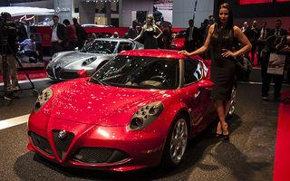 GENEVA 2013 LIVE: Alfa Romeo 4C - atracția sport din standul italian