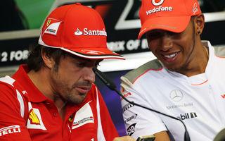 """Hamilton: """"Alonso, pilotul pe care vreau să-l înving în acest an"""""""