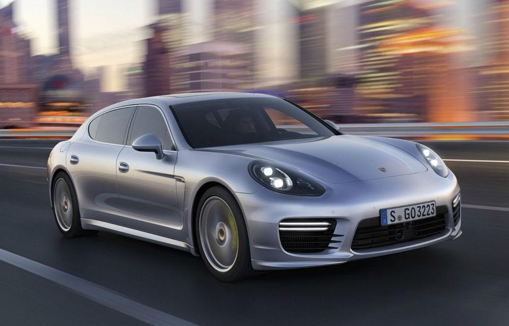 Porsche Panamera facelift - debut la Shanghai cu motoare noi şi cu o restilizare subtilă - Poza 1