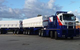 Tractomas, cel mai mare semi-camion din lume, este echipat cu anvelope Goodyear