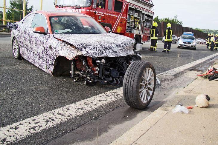 Un prototip al viitorului BMW Seria 2, distrus într-un accident în timpul testelor - Poza 2