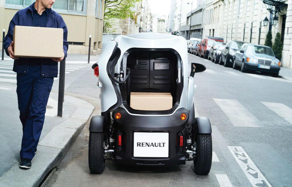 Renault Twizy Cargo, versiunea comercială a celui mai mic model al francezilor - Poza 4