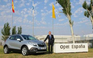 Opel Mokka va fi produs şi în Spania începând cu jumătatea lui 2014