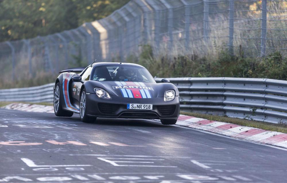 Porsche 918 Spyder a devenit cel mai rapid model de serie pe Nurburgring - Poza 1