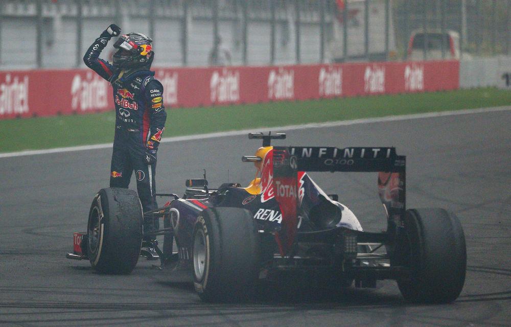 GALERIE FOTO şi VIDEO: Vettel a sărbătorit cu stil al patrulea titlu mondial din carieră - Poza 9