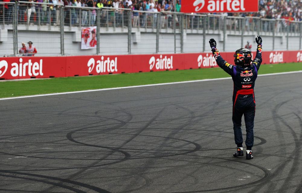 GALERIE FOTO şi VIDEO: Vettel a sărbătorit cu stil al patrulea titlu mondial din carieră - Poza 4