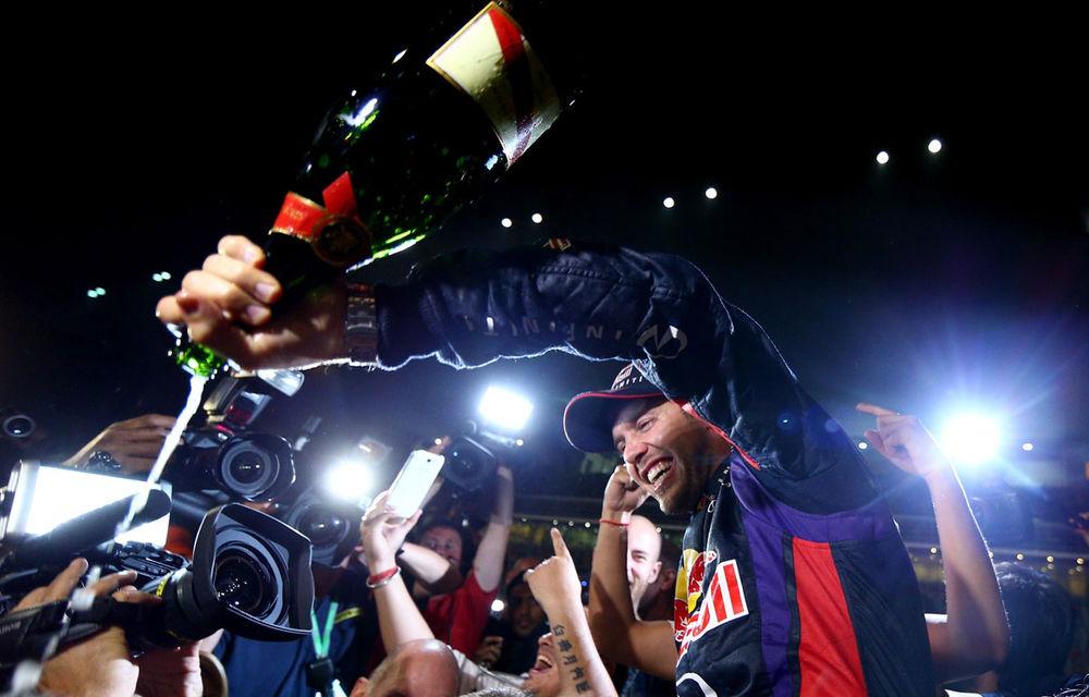 GALERIE FOTO şi VIDEO: Vettel a sărbătorit cu stil al patrulea titlu mondial din carieră - Poza 19