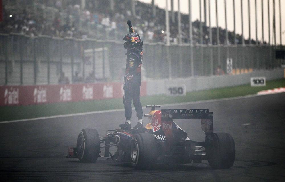 GALERIE FOTO şi VIDEO: Vettel a sărbătorit cu stil al patrulea titlu mondial din carieră - Poza 2