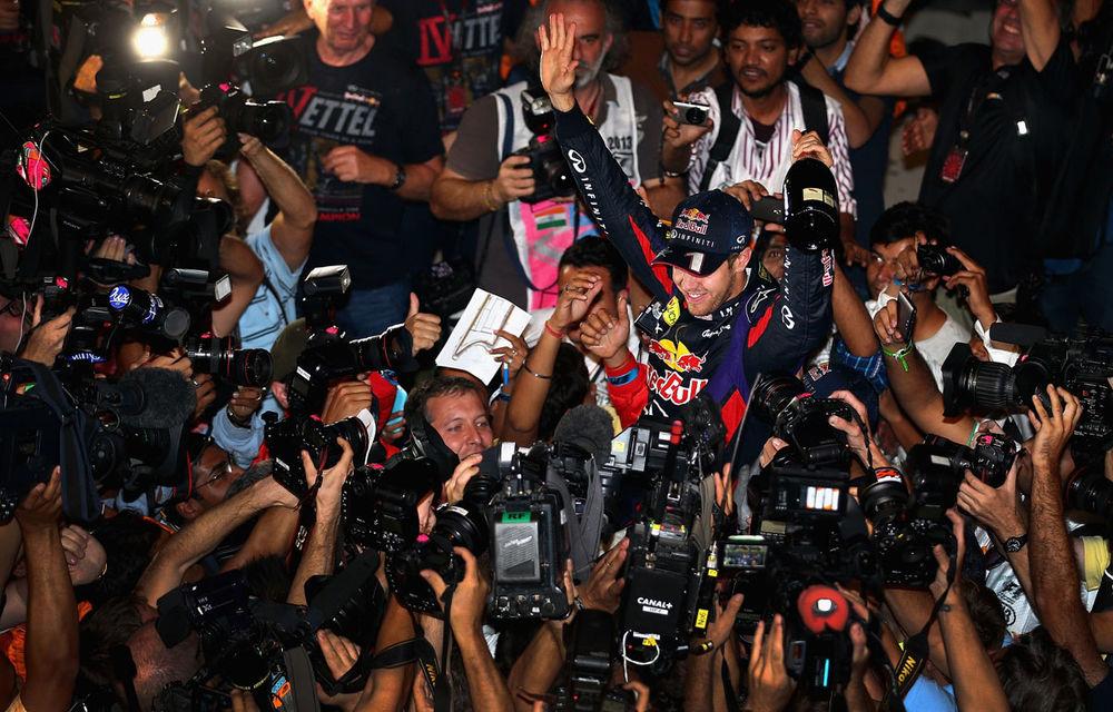 GALERIE FOTO şi VIDEO: Vettel a sărbătorit cu stil al patrulea titlu mondial din carieră - Poza 20