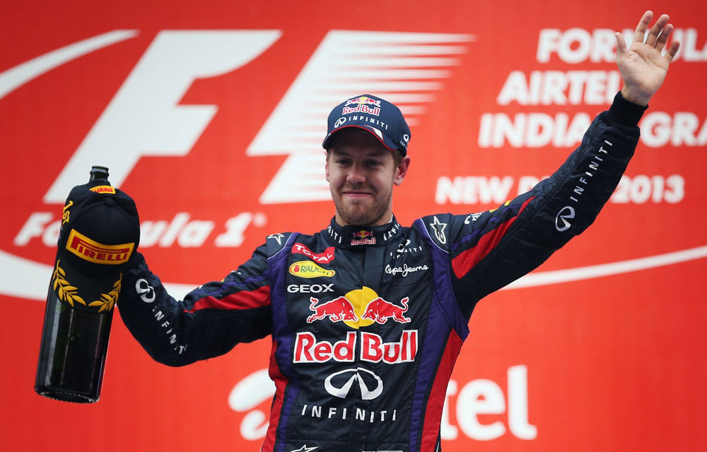 GALERIE FOTO şi VIDEO: Vettel a sărbătorit cu stil al patrulea titlu mondial din carieră - Poza 23