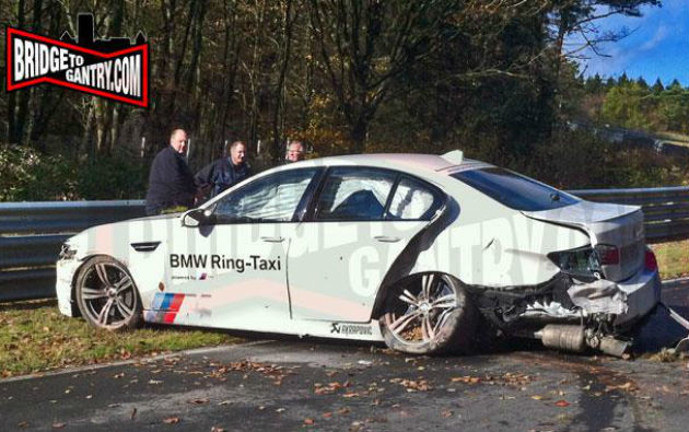 BMW M5 Ring Taxi, accident pe circuitul de la Nurburgring - Poza 1