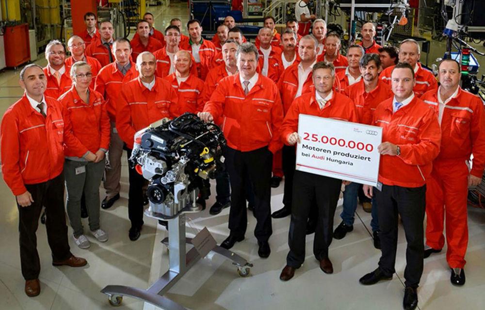 Audi a produs 25 de milioane de motoare în Ungaria - Poza 1