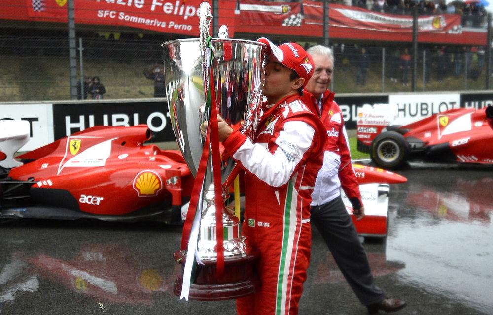 15.000 de fani Ferrari şi-au luat rămas bun de la Massa la Maranello - Poza 1
