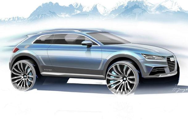 Primele schiţe ale conceptului din care se va naşte micul SUV Audi Q1 - Poza 1