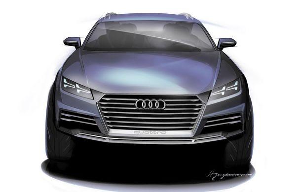 Primele schiţe ale conceptului din care se va naşte micul SUV Audi Q1 - Poza 3