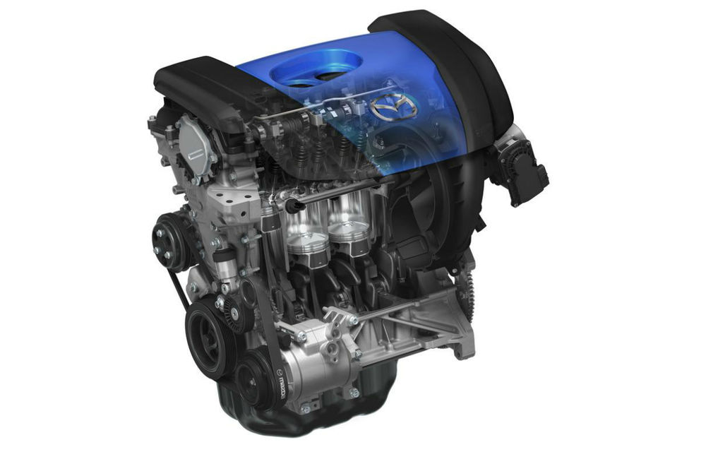 Mazda va lansa în 2018 un motor pe benzină cu principiul de funcţionare preluat de la diesel-uri - Poza 1