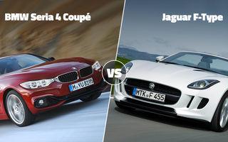 Duelurile zilei în AUTOVOT 2014: BMW Seria 4 Coupé vs. Jaguar F-Type şi Citroen C4 Picasso vs. Toyota Corolla