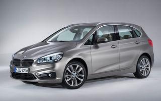 BMW Seria 2 Active Tourer: prima tracţiune faţă din istoria BMW debutează pe un monovolum compact