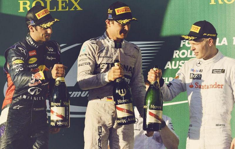 Rosberg a câştigat cursa de debut de la Melbourne! Ricciardo şi Magnussen, primele podiumuri din carieră. UPDATE: Ricciardo, exclus din clasamentul cursei - Poza 1