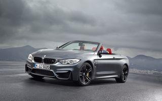 BMW M4 Cabriolet - imagini şi informaţii oficiale ale succesorului lui M3 Cabrio