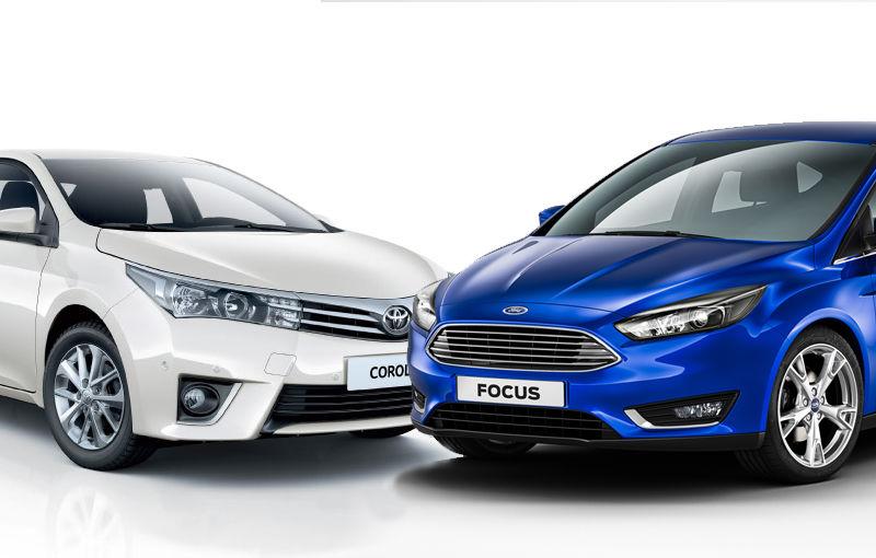 Dispută între Ford şi Toyota: cei doi constructori se contrează cu Focus şi Corolla pentru titlul de cea mai vândută maşină din lume în 2013 - Poza 1