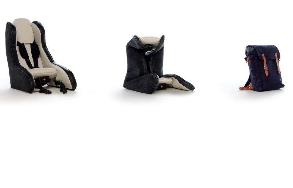 Volvo prezintă scaunul gonflabil pentru copii - Poza 3