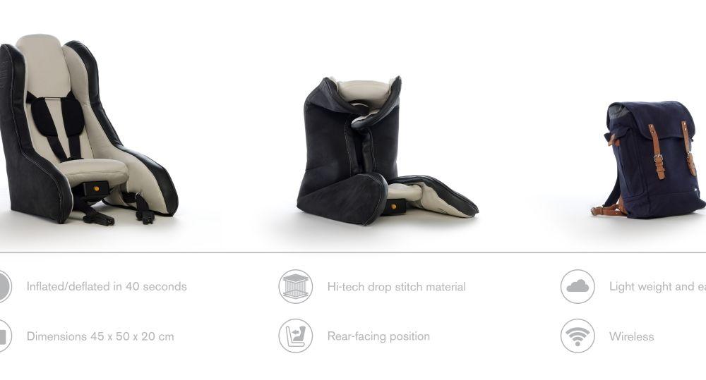 Volvo prezintă scaunul gonflabil pentru copii - Poza 4