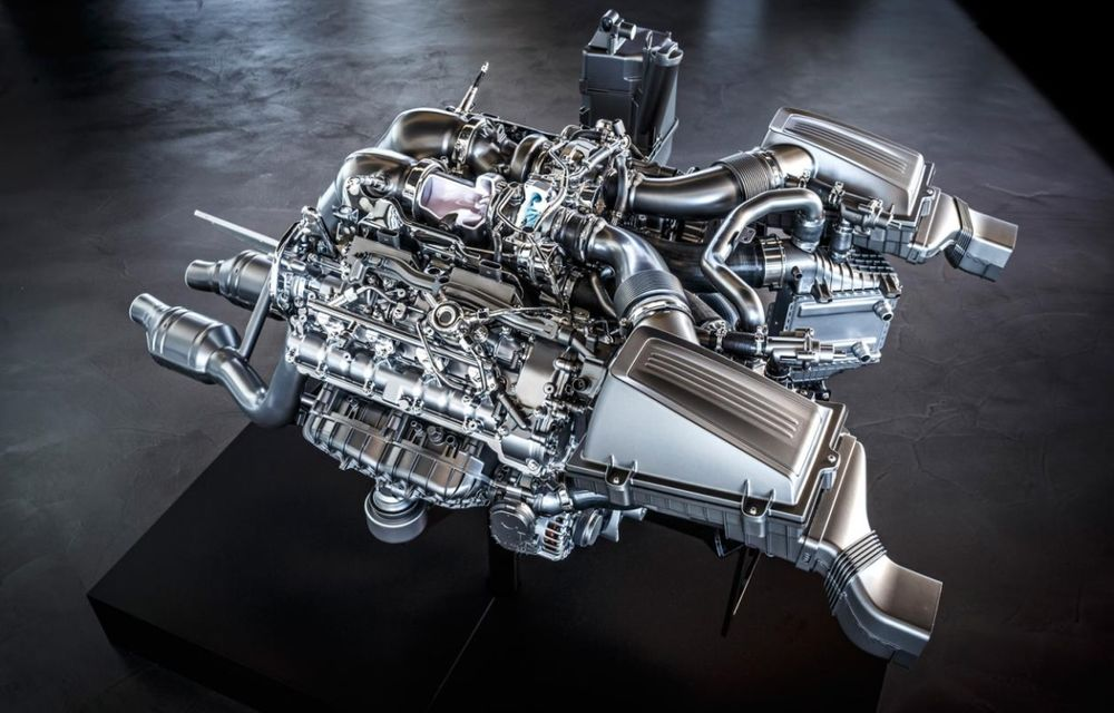 Mercedes-Benz prezintă motorul lui AMG GT: V8 twin-turbo de 510 CP - Poza 2