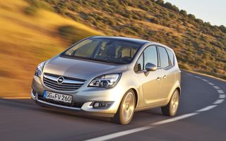 Opel Meriva primeşte un nou diesel entry-level: 1.6 CDTI de 95 CP