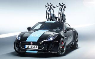 Jaguar F-Type Coupe primeşte un suport de biciclete unicat pentru Tour de France