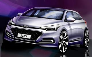 Hyundai i20, a doua generaţie: primele schiţe oficiale