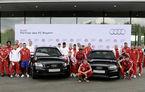Fotbaliştii echipei Bayern Munchen au primit o flotă Audi şi un curs de pilotaj cu R8