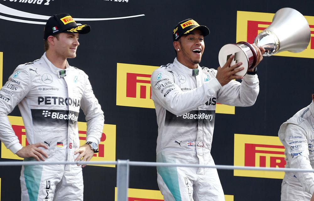 """Hamilton crede că a identificat punctul slab al lui Rosberg: """"Nu face faţă presiunii"""" - Poza 1"""