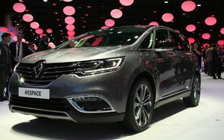 PARIS 2014 LIVE: Renault Espace își schimbă complet profilul și devine un crossover de familie