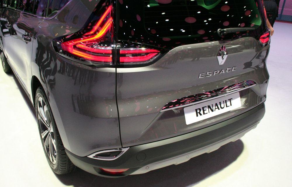 PARIS 2014 LIVE: Renault Espace își schimbă complet profilul și devine un crossover de familie - Poza 5