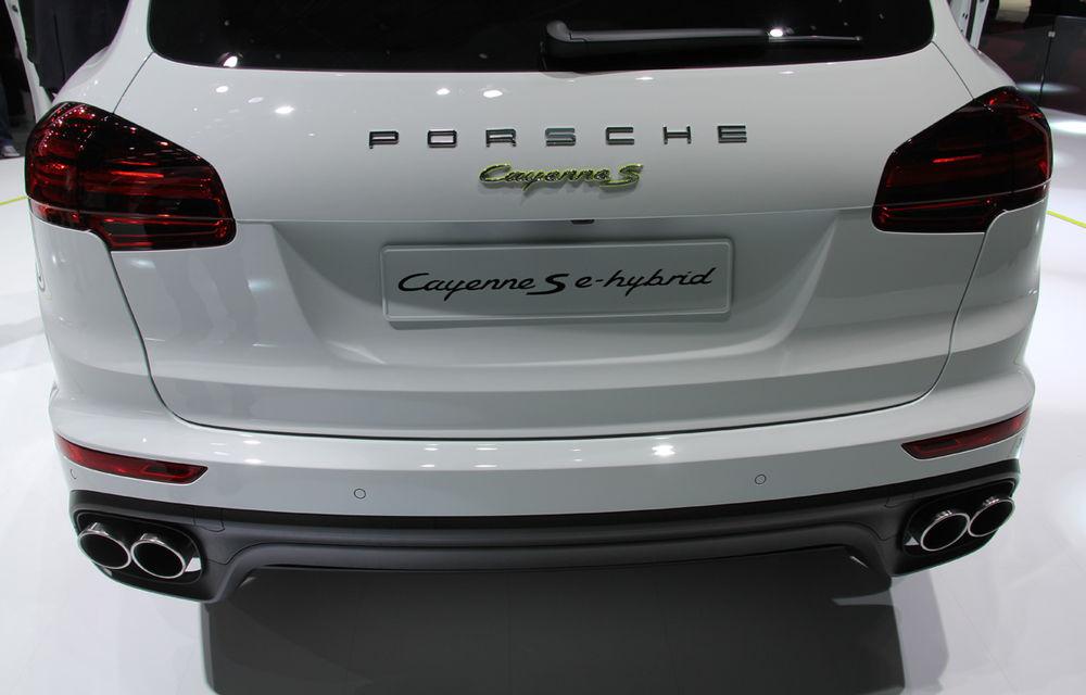 PARIS 2014 LIVE: Porsche Cayenne S E-Hybrid - primul SUV premium alimentat la priză din lume are 416 cai putere - Poza 7