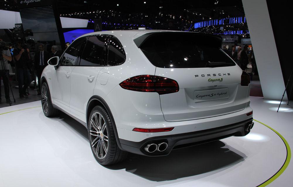 PARIS 2014 LIVE: Porsche Cayenne S E-Hybrid - primul SUV premium alimentat la priză din lume are 416 cai putere - Poza 6