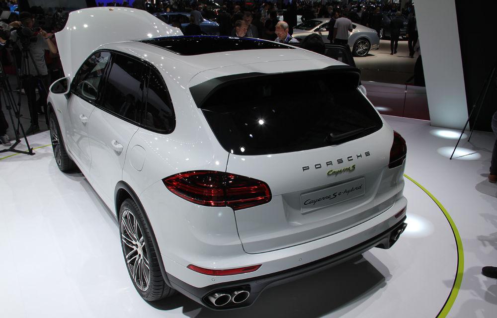 PARIS 2014 LIVE: Porsche Cayenne S E-Hybrid - primul SUV premium alimentat la priză din lume are 416 cai putere - Poza 8
